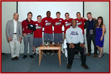 Temple Gymnastics Team with Bill Cosby, Bill Cosby, Temple Gymnastics Team, Fred Turoff, An Evening with Bill Cosby